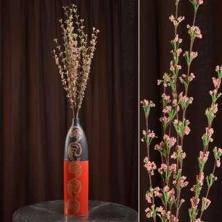 Искусственная веточка 100 см полевых цветов розовая оптом
