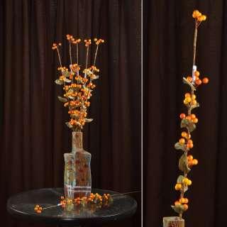 Искусственная веточка 75см с ягодами желто-красными оптом