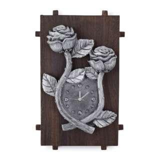 Часы настенные на деревянной основе 36x21см Розы оптом