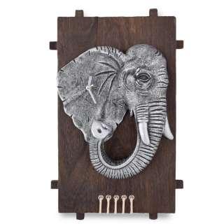 Часы настенные на деревянной основе 36x21см Слон оптом