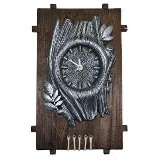 Часы настенные на деревянной основе 36x21см Дерево оптом