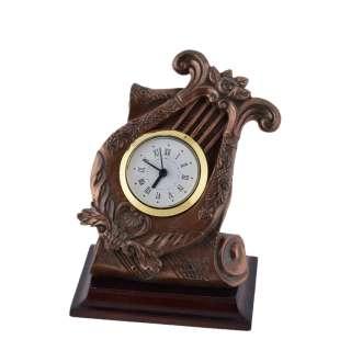 Часы настольные лира 13,5х11,5х9 см под бронзу оптом