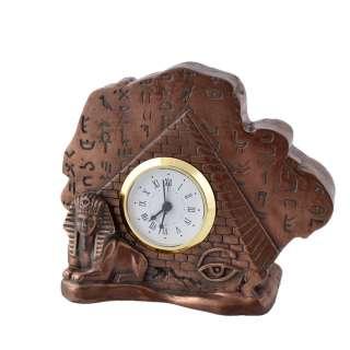 Часы настольные египетская пирамида 11,5х14х5 см под бронзу оптом