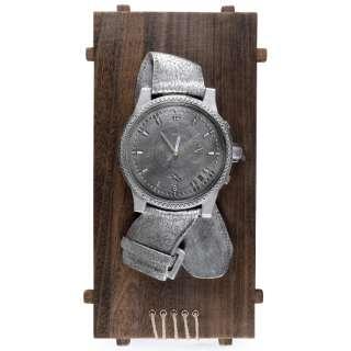 Часы настенные на деревянной основе 60х30х6 см Часы серебристые оптом