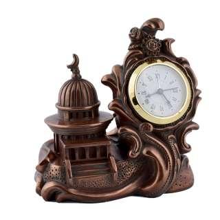 Часы настольные мечеть 12х12,5х7,5 см под бронзу оптом