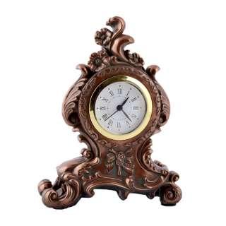 Часы настольные каминные цветы 17х13,5х6 см под бронзу оптом