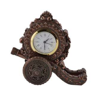 Часы настольные пушка 16,5х17,5х9 см под бронзу оптом