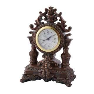Часы настольные каминные корона 18х13х8,5 см под бронзу оптом