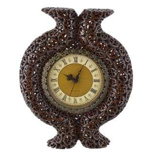 Часы настенные под ореховый срез с выступом 39х31х6 см оптом