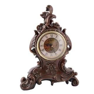 Часы настольные каминные цветы 31х23х10 см под бронзу оптом