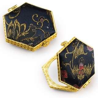 Дзеркало косметичне шестикутне в китайському стилі чорне оптом
