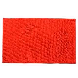 Коврик для ванной микрофибра прорезиненная основа 50х80 см красный оптом