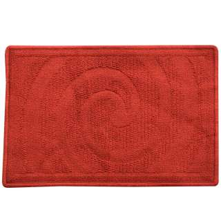 Коврик для ванной прорезиненная основа 40х60 см красный темный оптом