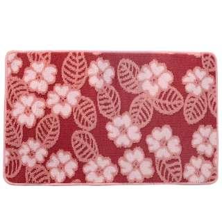 Коврик для ванной прорезиненная основа 50х80 см розовый, розовые цветы оптом