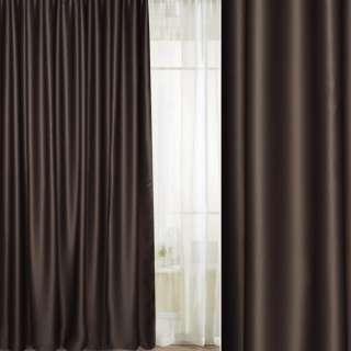 Портьера блэкаут коричневая, высота 2,60, ширина 2,45 оптом