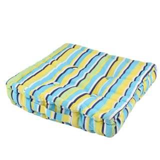 Подушка для стульев 40х40 см в полоску черную желтую голубую оптом