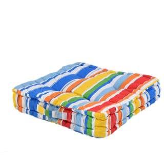Подушка для стульев 40х40 см в полоску красную белую голубую оптом