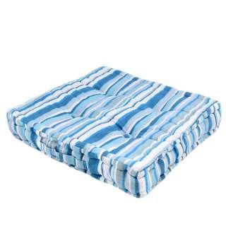 Подушка для стульев 40х40 см в полоску синюю голубую белую оптом