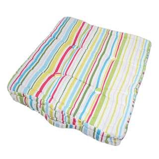 Подушка для стульев 40х40 см в полоску зеленую малиновую розовую голубую оптом