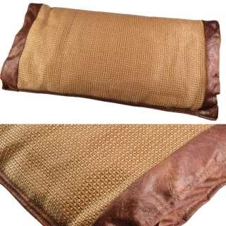 Подушка антистресс с травами 30х50 см из ротанговой пальмы оптом