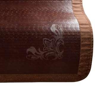 Покрывало циновка бамбук 150х195 см темно-коричневое с вензелем оптом