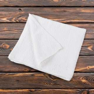Полотенце махровое белое 50х110 см оптом