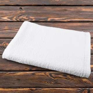 Рушник махровий білий 80х146 см оптом