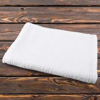 Полотенце махровое белое 80х146 см оптом