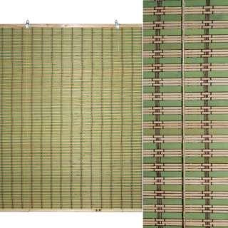 Ролеты из бамбуковой соломки debel 90х120 см полоски натуральные и зеленые оптом