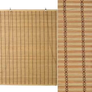 Ролеты из бамбуковой соломки debel 90х120 см полоски натуральные и коричневые оптом