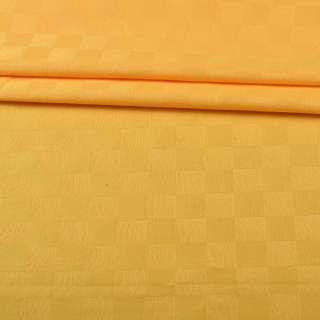 Скатерть жаккардовая клетка 135х150 см желтая оптом