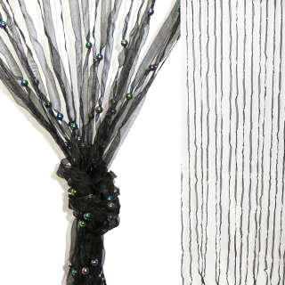 Штора декоративна з капронової тасьми 80х175 см чорна оптом