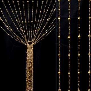 Штора декоративна пластик гранована кулька 80х175 см золотиста світла оптом