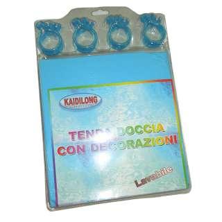 Шторка для ванной 180х180 см голубая оптом