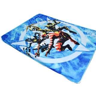Плед флисовый 130х170 см с космическими воинами голубой оптом