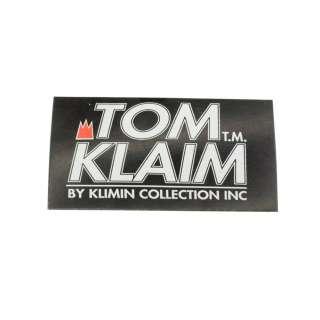 Етикетка паперова Том Клайм 50х100мм чорна з білим оптом