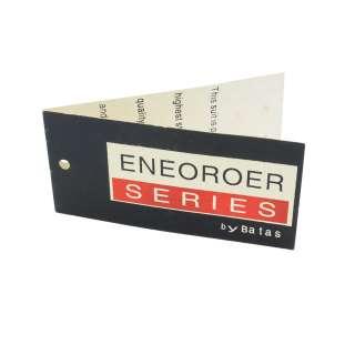 Етикетка паперова подвійна Енеороер 90х45мм чорна з червоним оптом