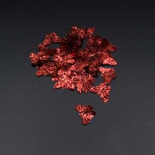 Пайетка бабочка 33х18мм 1 упаковка 4г=50шт красная оптом