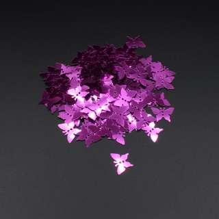 Пайетка бабочка 17х13мм 1 упаковка 5г=100шт розовые фуксия оптом