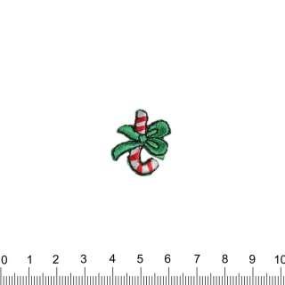 аппликация Новогодний леденец с бантиком, вышивка, 2х2,5см оптом