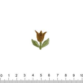 аппликация Тюльпан коричневый, вышивка, 2,5х2,5см оптом