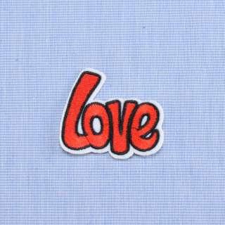 Аппликация клеевая LOVE красная, 55х45мм оптом