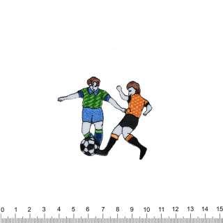 Аппликация 2 футболиста, вышивка, 6х7см оптом