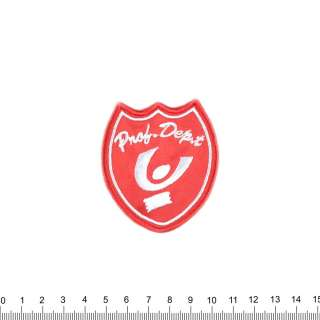 аппликация PNOB DEPT красная, вышивка, 6,5х5,5см оптом