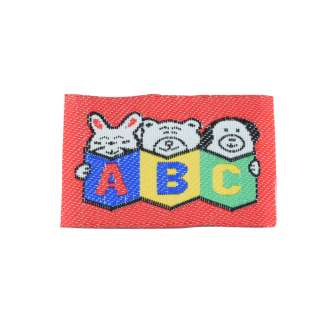 Нашивка жаккардовая ABC 46х33мм оптом
