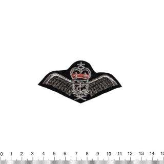 Нашивка Крила з короною 40х80мм чорна оптом