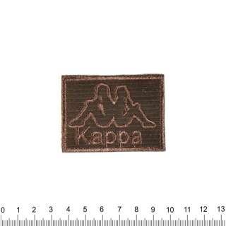 аппликация KAPPA черно-коричневая, вышивка, 4х6см оптом