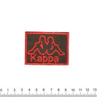 Аппликация KAPPA черно-красная, вышивка, 4х6см оптом