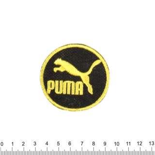 аппликация PUMA круглая черно-желтая, вышивка, 6х6см оптом