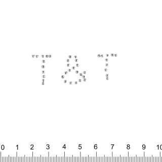 Аппликация T&T серебристая, мет.стразы, 2х5см оптом